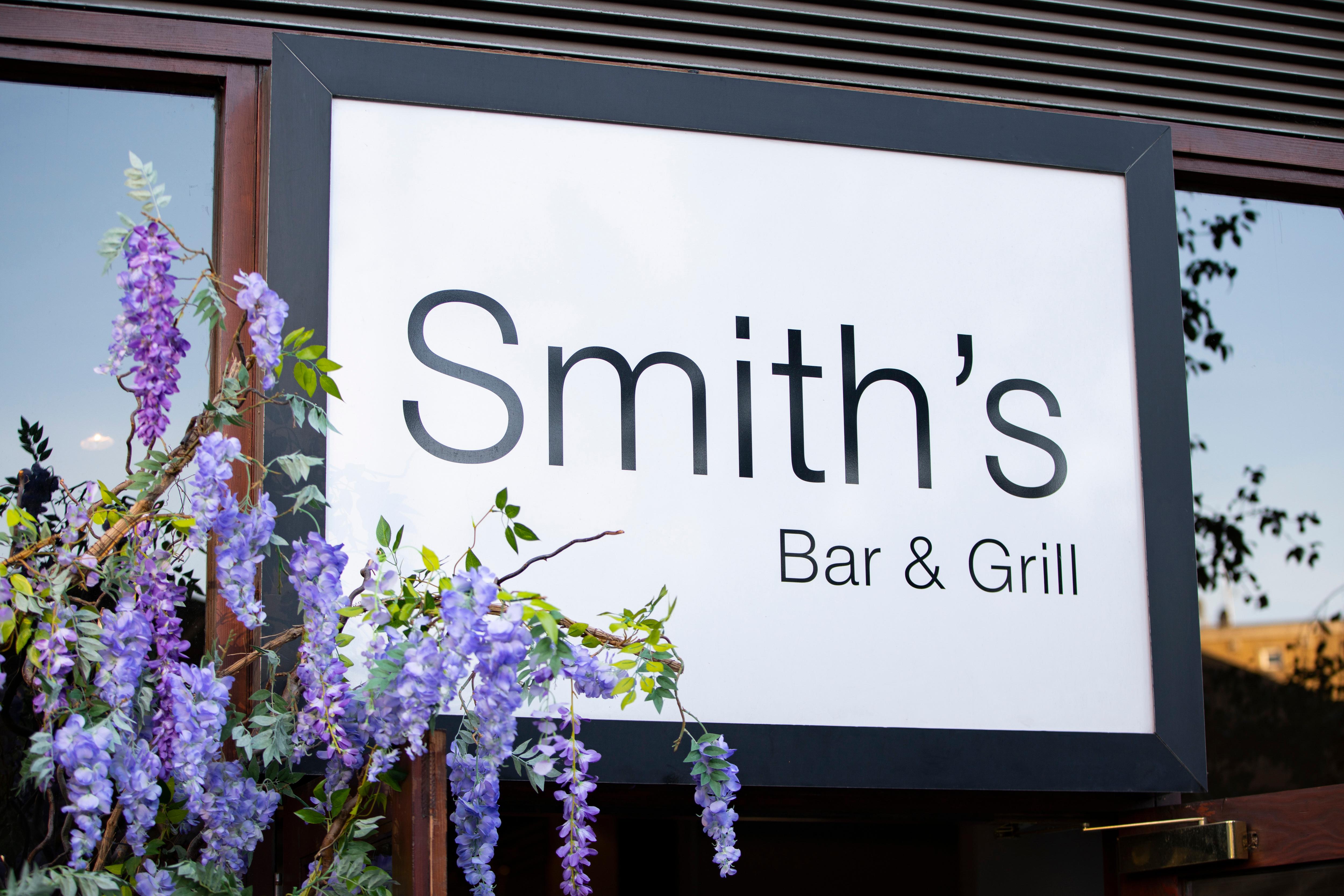 Smiths restaurant front sign