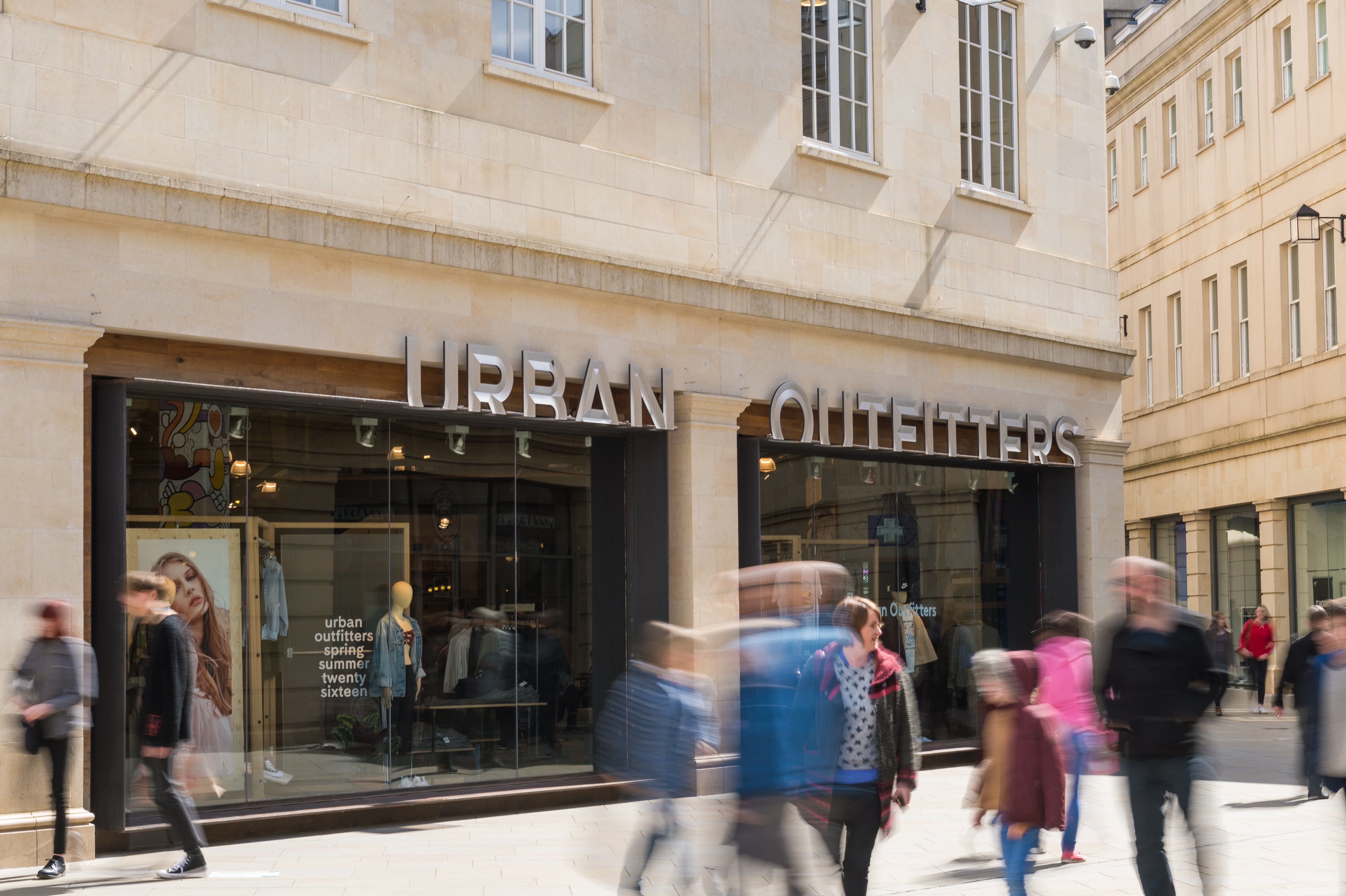 shop front of urban outfitters